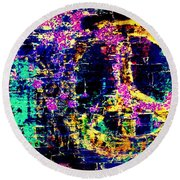 Round Beach Towel featuring the photograph Peace Graffiti by Suzanne Stout