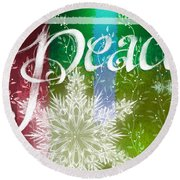 Peace Greeting Round Beach Towel