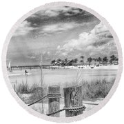 Round Beach Towel featuring the photograph Peace by Howard Salmon