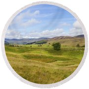 Peace In Glen Clova Round Beach Towel