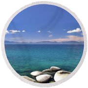 Peace - Lake Tahoe Round Beach Towel