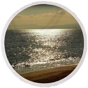 Peace Of Mind... Round Beach Towel