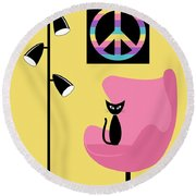 Peace Symbol Round Beach Towel