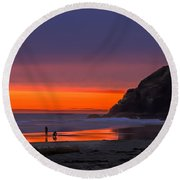 Peaceful Evening Round Beach Towel by Robert Bales
