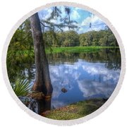 Peaceful Florida Round Beach Towel by Timothy Lowry