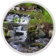 Round Beach Towel featuring the photograph Moments That Take Your Breath Away by Jordan Blackstone