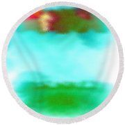 Round Beach Towel featuring the digital art Peaceful Noise by Anita Lewis