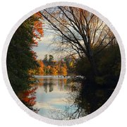 Peaceful October Afternoon Round Beach Towel