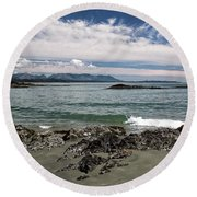 Peaceful Pacific Beach Round Beach Towel