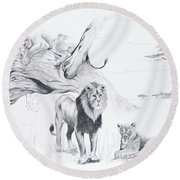 Peaceful Pride Round Beach Towel