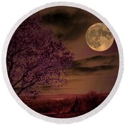 Peaceful Valley Round Beach Towel by Robert McCubbin