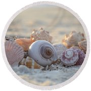 Peaceful Whispers Round Beach Towel