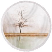 Peacefulness Round Beach Towel