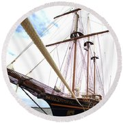 Round Beach Towel featuring the photograph Peacemaker by Gordon Elwell