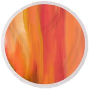 Peach Floral Round Beach Towel by Lourry Legarde