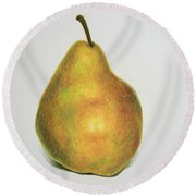 Pear Practice Round Beach Towel by Marna Edwards Flavell