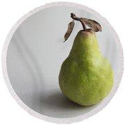 Pear Still Life Protrait Round Beach Towel