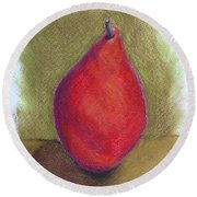 Pear Study 3 Round Beach Towel by Marna Edwards Flavell