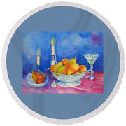 Pearis By Candlelight  Round Beach Towel