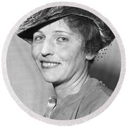 Pearl Buck Wins Nobel Prize Round Beach Towel