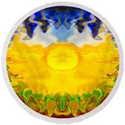 Pearlescent  Round Beach Towel