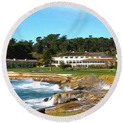 Pebble Beach Club House Round Beach Towel