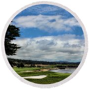 Pebble Beach - The 18th Hole Round Beach Towel