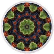 Round Beach Towel featuring the digital art Pebble Mandala by Deborah Smith