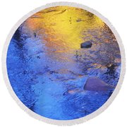 Pecos Reflection Round Beach Towel