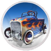 Peddle Car Round Beach Towel