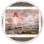 Peggy's Beauty Round Beach Towel