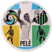 Pele Finale Round Beach Towel by Benjamin Yeager
