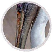 Pelican Round Beach Towel by Anne Rodkin