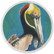Pelican Blue Round Beach Towel