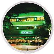 Pelican Hotel Film Image Round Beach Towel