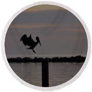 Pelican Landing Round Beach Towel by Leticia Latocki