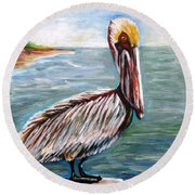 Pelican Pointe Round Beach Towel