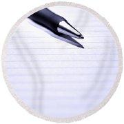 Pen On Paper Round Beach Towel