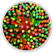 Pencil Blossom Round Beach Towel