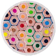 Pencils Round Beach Towel
