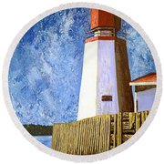 Pendlebury Lighthouse Round Beach Towel