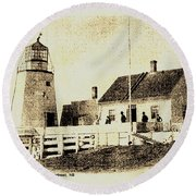Pendlebury Lighthouse St Andrews Nb 1886 Round Beach Towel