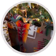 Round Beach Towel featuring the photograph Pendleton Christmas by Patricia Babbitt