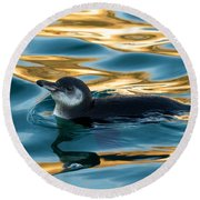 Penguin Watercolor 2 Round Beach Towel