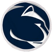 Penn State Nittany Lions Round Beach Towel by Tony Rubino