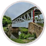 Pennsylvania Covered Bridge Round Beach Towel