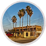 Round Beach Towel featuring the photograph Penny Bar Mckittrick California by Lanita Williams