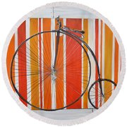 Penny-farthing Round Beach Towel by Marilyn  McNish