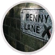 Penny Lane Round Beach Towel
