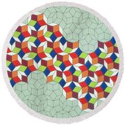 Penrose's Conundrum Round Beach Towel